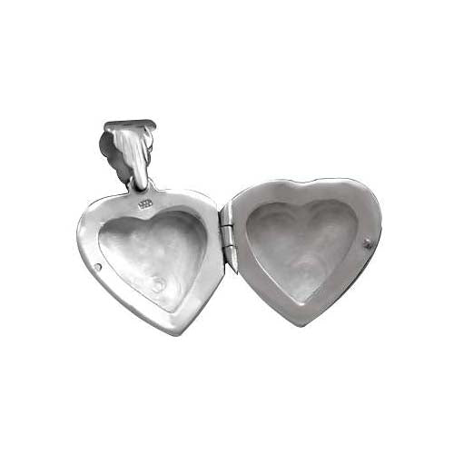 Sterling Heart Locket: Ornate Scroll Photo Locket - SilverAndGold.com Silver And Gold
