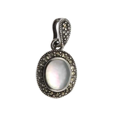 Sterling Silver and Mother of Pearl Pendant - SilverAndGold.com Silver And Gold