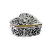 Heart Shape Sterling Silver Engagement Ring Box - SilverAndGold.com Silver And Gold