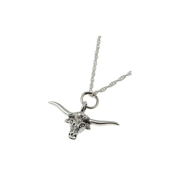 Sterling SIlver Bull Necklace