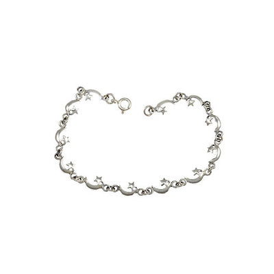 Moon and Star Bracelet - SilverAndGold.com Silver And Gold