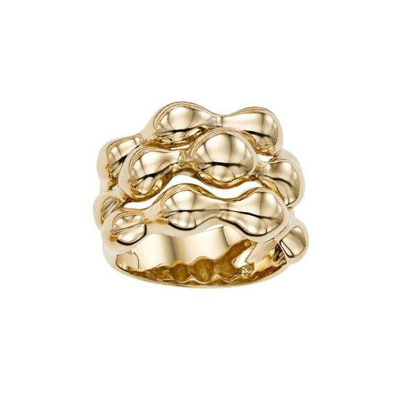 14K Yellow Gold Abstract Ring