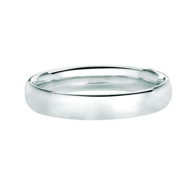 Solid 14K White Gold Band 4MM