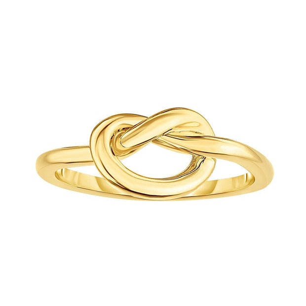 14K Yellow Gold Eternal Love Knot Ring