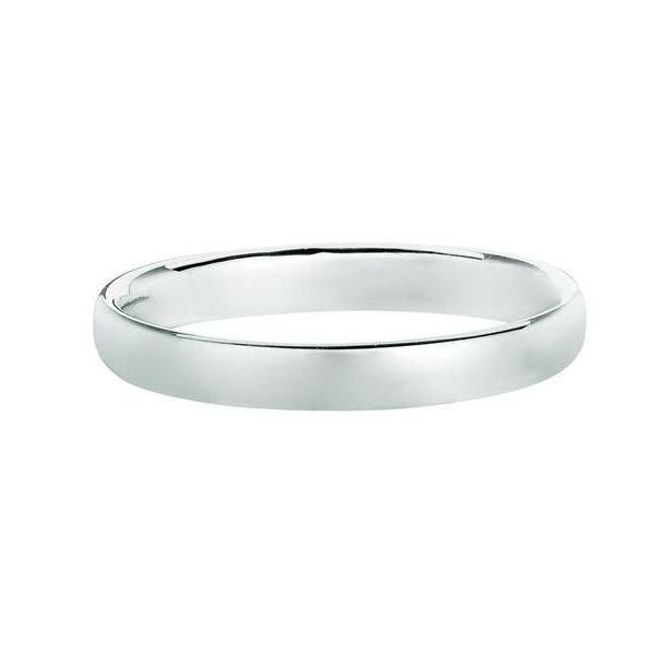 Solid 14K White Gold Band 3MM