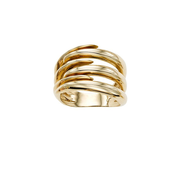 14K Yellow Gold Interlaced Bold Ring