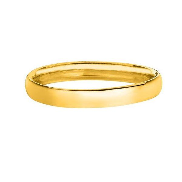 Solid 14K Yellow Gold Band 2.5MM