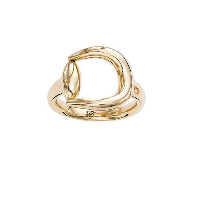 14K Yellow Gold Classical Equestrian Ring