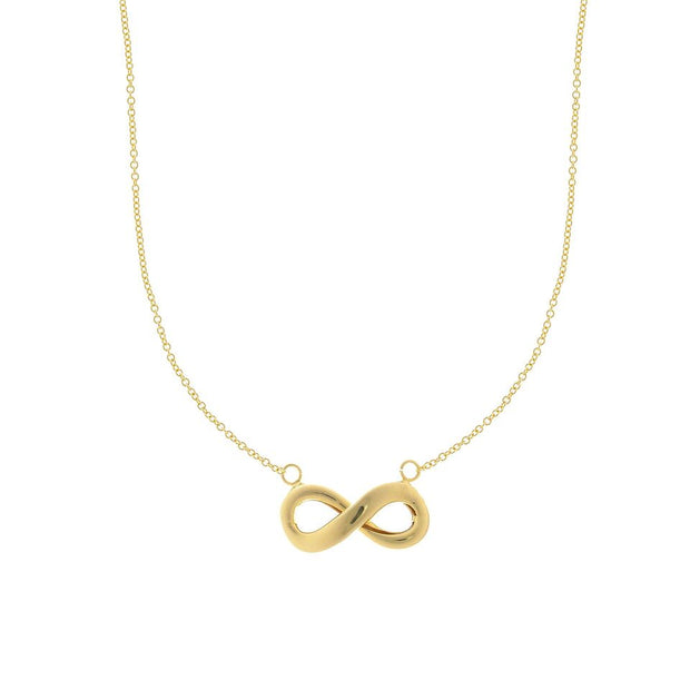 14K Yellow Gold Infinity Necklace 18''