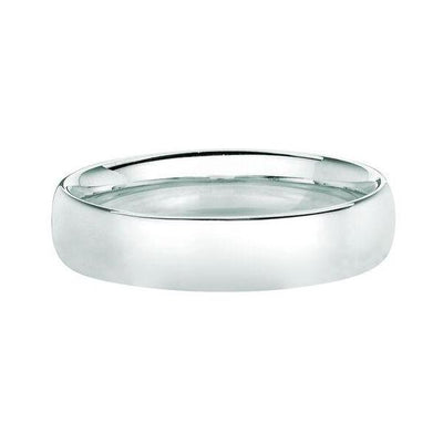 Solid 14K White Gold Band 5MM