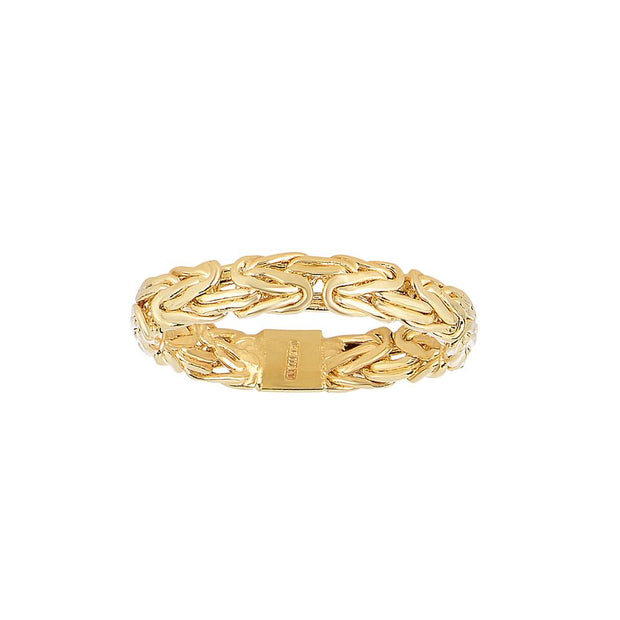 14K Yellow Gold 4.10 MM Byzantine Ring