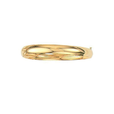 14K Yellow Gold 8.0 MM Classic Bangle