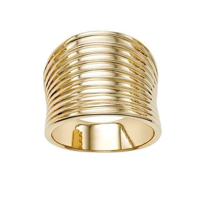 14K Yellow Gold Multi Layered Ring
