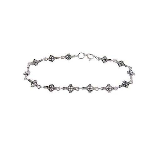 Sterling Silver Crosses Bracelet