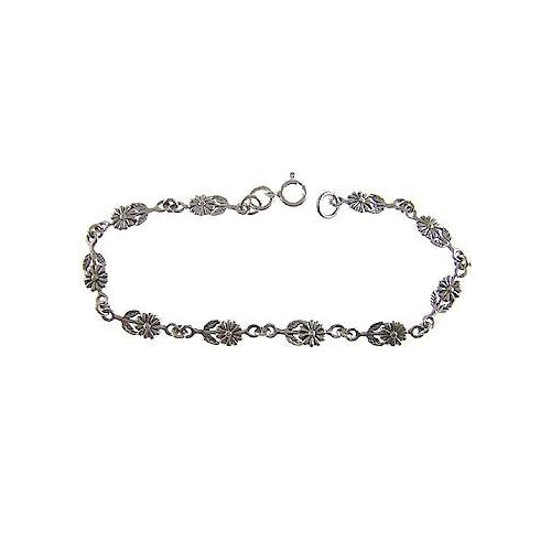 Silver Bracelet: Sterling Flowers - SilverAndGold.com Silver And Gold