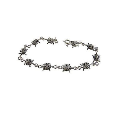 Silver Bracelet: Sterling Turtles - SilverAndGold.com Silver And Gold