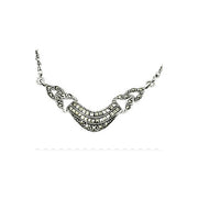 Marcasite Necklace & Sterling Silver Chain
