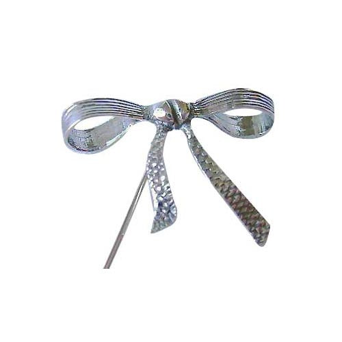 Marcasite Ribbon Hat Pin in Sterling Silver
