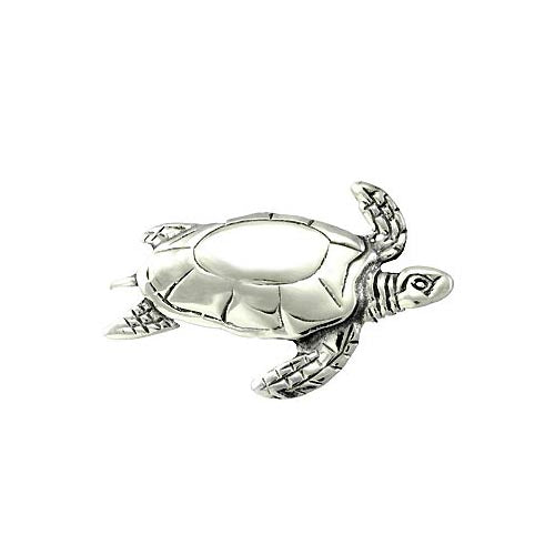 Sterling Brooch Pin: Turtle Pin - SilverAndGold.com Silver And Gold