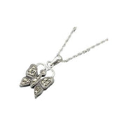 Sterling Butterfly Necklace - SilverAndGold.com Silver And Gold
