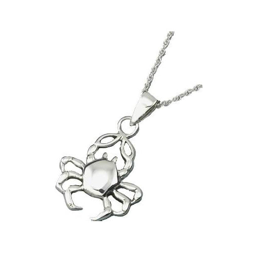 Sterling Cancer the Crab Necklace - SilverAndGold.com Silver And Gold
