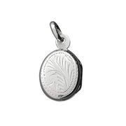 Sterling Locket: Small Etched Oval - SilverAndGold.com Silver And Gold