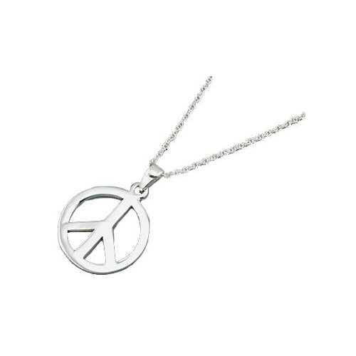 Sterling Peace Necklace - SilverAndGold.com Silver And Gold