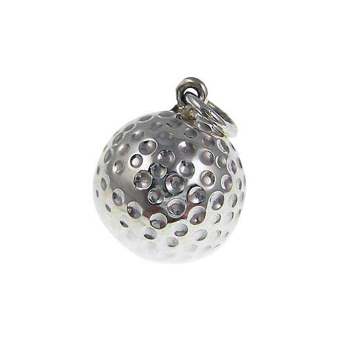 Sterling Pendant: Golf Ball Golfer Pendant - SilverAndGold.com Silver And Gold