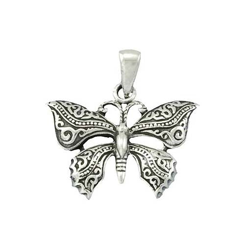 Sterling Pendant: Large Butterfly - SilverAndGold.com Silver And Gold