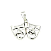 Sterling Pendant: Large Tragedy & Comedy - SilverAndGold.com Silver And Gold