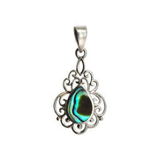 Sterling Silver and Abalone Shell Pendant - SilverAndGold.com Silver And Gold