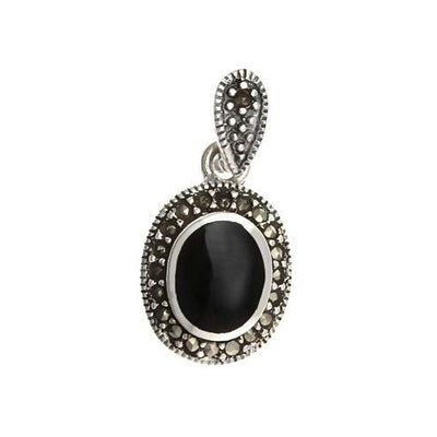 Sterling Silver and Black Onyx Pendant - SilverAndGold.com Silver And Gold