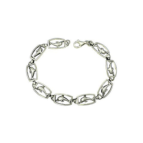 Sterling Silver Bracelet: Dolphins - SilverAndGold.com Silver And Gold