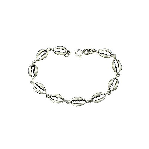 Sterling Silver Bracelet: Seashells - SilverAndGold.com Silver And Gold