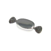 Sterling Silver: Oval Candy Shape Box - SilverAndGold.com Silver And Gold