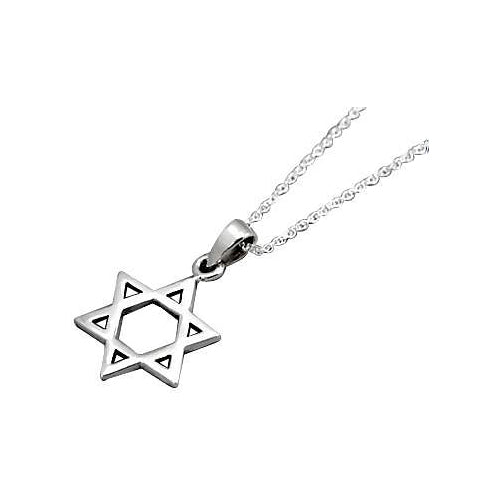 Sterling Silver Star of David Necklace - SilverAndGold.com Silver And Gold