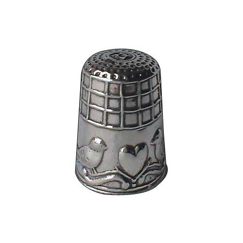 Sterling Silver Thimble: Baby Birds - SilverAndGold.com Silver And Gold