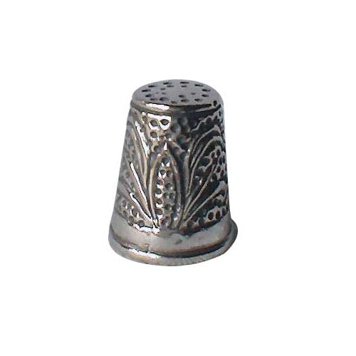Sterling Silver Thimble: Cornhusker and Wheat - SilverAndGold.com Silver And Gold