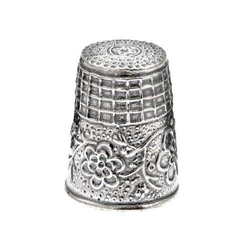 Sterling Silver Thimble: Flowers - SilverAndGold.com Silver And Gold