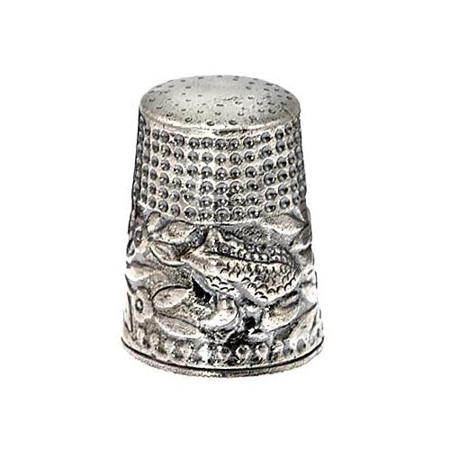 Sterling Silver Thimble: Frog Prince - SilverAndGold.com Silver And Gold