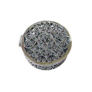 Victorian Scroll Style Round Box - SilverAndGold.com Silver And Gold
