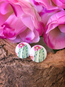 Desert Rose Fabric Stud - Bucklicious Designs