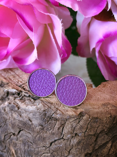 Delilah Purple Leather Stud - Bucklicious Designs