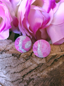 Marble Shimmer Fabric Stud - Bucklicious Designs