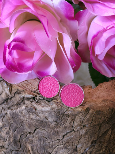 Delilah Pink Leather Stud - Bucklicious Designs