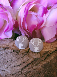 Stag Fabric Stud - Bucklicious Designs