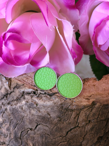Delilah Lime Leather Stud - Bucklicious Designs