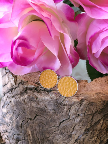 Delilah Mustard Leather Stud - Bucklicious Designs