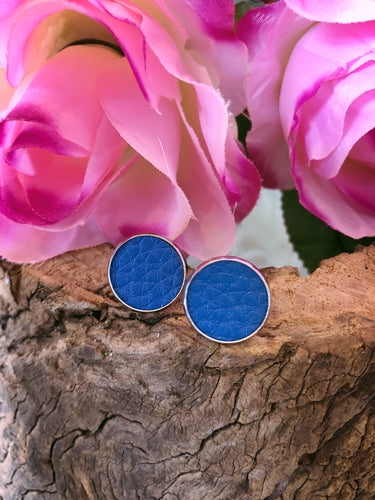 Delilah Royal Blue Leather Stud - Bucklicious Designs