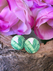 Palm Spring Fabric Stud - Bucklicious Designs